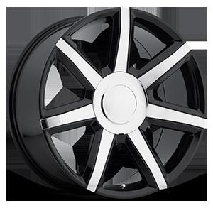 Style 56 Gloss Black w/ Chrome Inserts 6 lug
