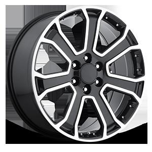 Style 49 Gloss Black Machined 6 lug