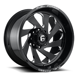 FFC72   Concave Black & Milled 8 lug
