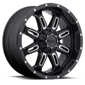 725 Dominator Satin Black with Mirror Machined Accents 6 lug