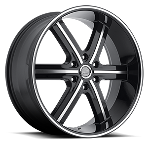 U2 Wheels 55B-M 6 Black Machined