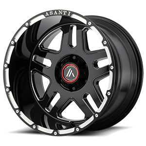 AB809 Enforcer Gloss Black Milled 6 lug
