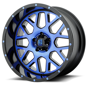 XD820 Grenade Satin Black Machined Face w/ Blue Tinted Clear Coat 5 lug