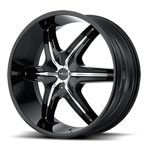 HE891 Gloss Black w/ Gloss Black and Chrome Accents 5 lug
