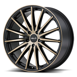 HE894 Satin Black w/ Machined Face And Tinted Clear 5 lug