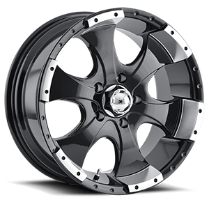 Ion Alloy Wheels 136 5 Black Machined