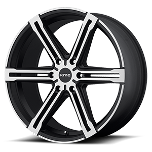 KMC Wheels KM686 Faction 6 Satin Black w/ Machined Face