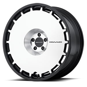 KM689 Skillet Satin Black Brushed Face 5 lug