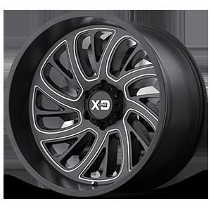 XD826 Surge Satin Black Milled 6 lug