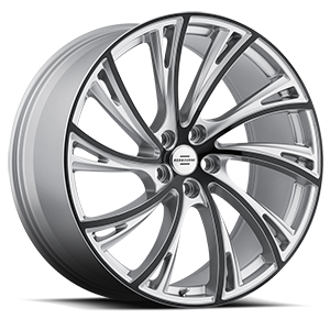 Noble Matte Silver with Gloss Black Face 5 lug