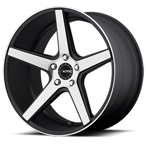 KMC Wheels KM685 District 5 Satin Black Machined