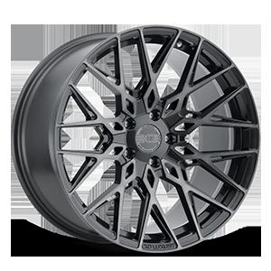 XO Wheels Phoenix 5 Gunmetal w/ Brushed Gunmetal Face