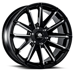 Crossfire Black Milled Spokes 6 lug