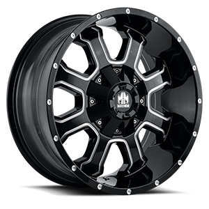 Fierce Black Milled Spokes 6 lug