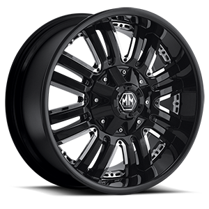Assault Black with Chrome Inserts 8 lug