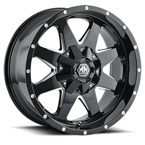 Tank Black with Milled Spokes 5 lug