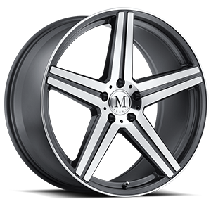 Estrella Gunmetal with Machine Cut Face 5 lug