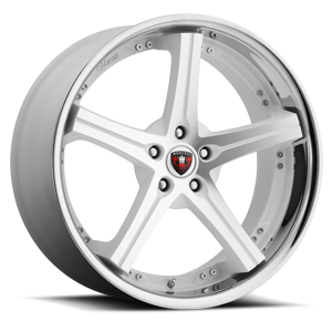 M41 Machine Face with White Accent and Chrome Lip 5 lug