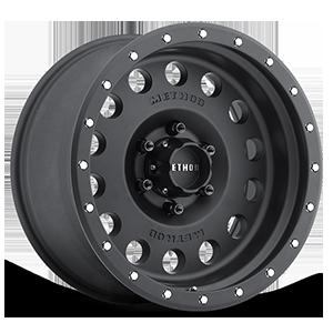 MR307 - Hole Matte Black 6 lug