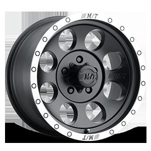 Classic Baja Lock™ - 17x9 5 Matte Black with Machined Simulated Bead Lock