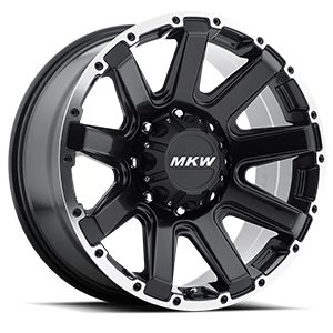 M94 Satin Black Machined Ring 8 lug