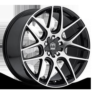 Motiv Luxury Wheels 409 Magellen 5 Mirror Machined Face with Gloss Black Accents