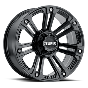 T-22 Matte Black w/ Stainless Steel Bolts 5 lug