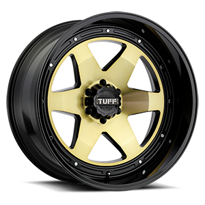 T1A Gold w/ Gloss Black Lip 6 lug
