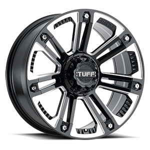 T-22 Gloss Black w/ Milled Spokes and Stainless Steel Bolts 6 lug