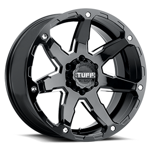 T4A Gloss Black w/ Milled Spokes 6 lug