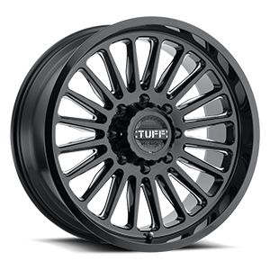 T5A Gloss Black w/ Milled Spokes 8 lug