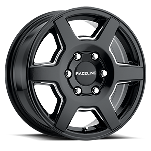 156B Surge Gloss Black Milled 6 lug