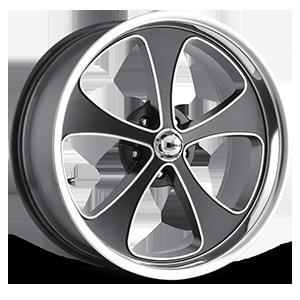 Ridler Wheels 645 5 Matte Black Machined
