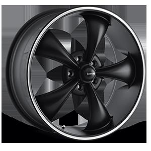 Ridler Wheels 695 5 Black with Machined Trim