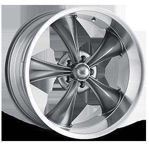 Ridler Wheels 695 5 Gunmetal with Machine Lip