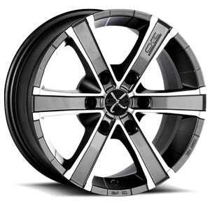 Sahara 6 Matt Graphite Diamond Cut 6 lug