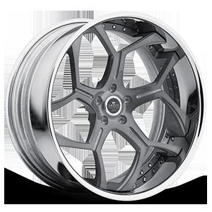 SV53-C Grey With Chrome Lip 5 lug