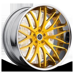 SV54-C Gold with Chrome Lip 5 lug