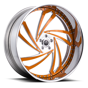 Lazio Chrome w/ Orange 5 lug