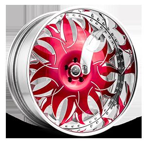 Ancona Red and Polished 5 lug