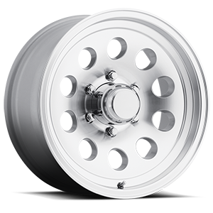 S-20 Silver Machined 6 lug
