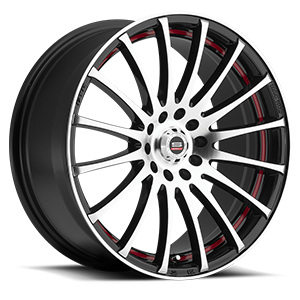 SP-12 Gloss Black Machined Red Line 5 lug