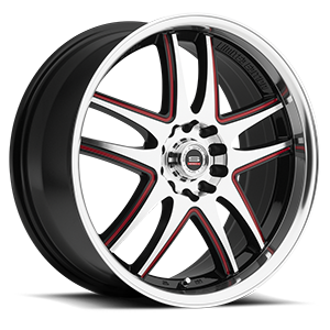 SP-15 Gloss Black Machined Red Window 5 lug