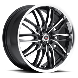 SP-16 Gloss Black Machined 5 lug