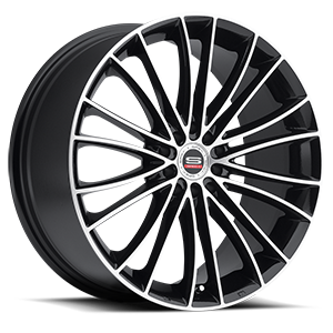 SP-1 Gloss Black Machined 5 lug