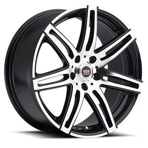 SP-24 Gloss Black Machined 5 lug