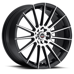 SP-27 Gloss Black Machined 5 lug