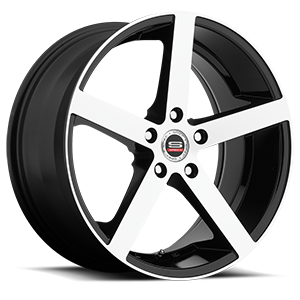 SP-10 Gloss Black Machined 5 lug