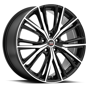 SP-34 Gloss Black Machined 5 lug