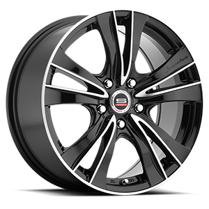 SP-35 Gloss Black Machined 5 lug
